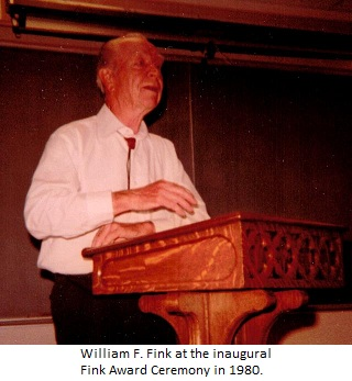 William H. Fink at the inaugural Fink Award Ceremony in 1980.